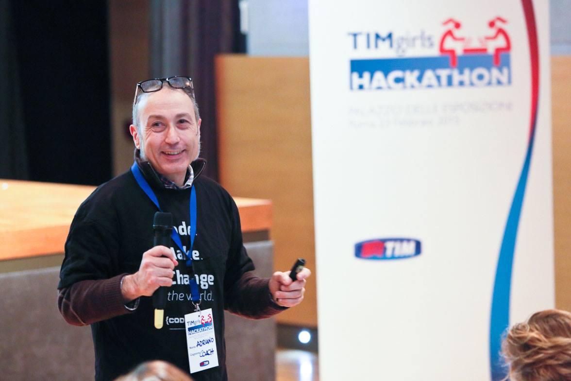 Adriano Parracciani al TimGirlsHackathon